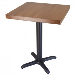24x24 solid beech wood table with Fawn stain