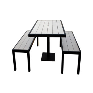 Aurora Outdoor Table and Bench